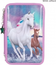 ,Miss melody 3-vaks etui northern lights paarden