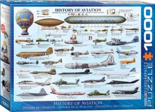 Eur-6000-0086,Puzzel history of aviation eurographics 1000 stuks