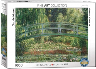 Eur-6000-0827,Puzzel the japanese footbridge - claude monet - 1000 stuks