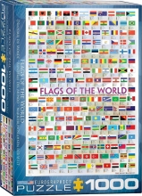 Eur-6000-0128,Puzzel flags of the world - eurographics - 1000 stuks